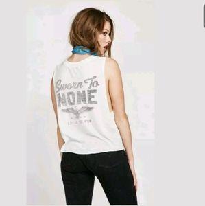 NWT WildfoxCoutureT-Shirt Sz L Sworn to None